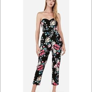 Express Floral Sweetheart Jumpsuit